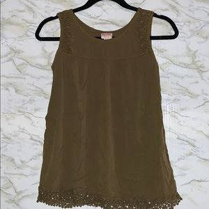 Mossimo Supply Co. woman's green/lace tank…